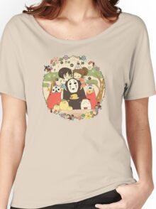 collage ghibli familly Women's Relaxed Fit T-Shirt
