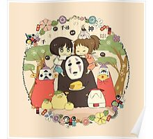 collage ghibli familly Poster