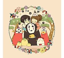 collage ghibli familly Photographic Print