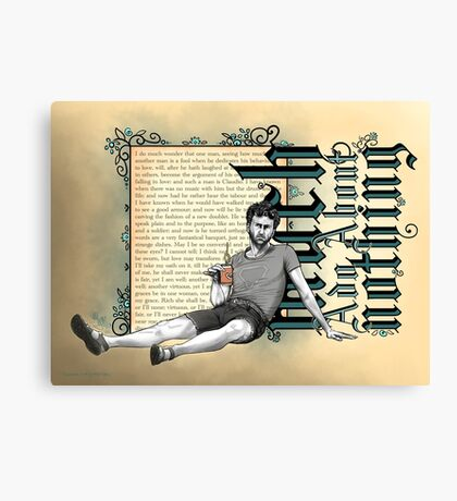 Shakespeare Much Ado About Nothing David Tennant Benedick Canvas Print