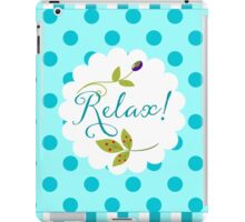 Relaxing Zen nature and pattern message, olive, berries iPad Case/Skin