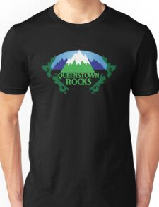 QUEENSTOWN rocks New Zealand with map Unisex T-Shirt