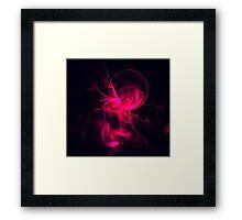 Pink Flame Fractal  Framed Print