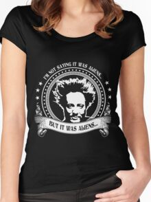It Was Aliens (Giorgio A. Tsoukalos) Women's Fitted Scoop T-Shirt