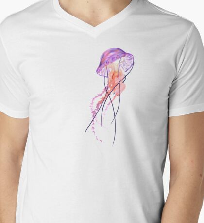 Jellyfish TShirt Mens V-Neck T-Shirt