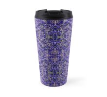 Blue Knitting Travel Mug