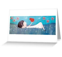Lying in the field Greeting Card