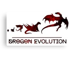 Game of Thrones Drogon Evolution Canvas Print