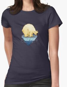 Pola Bear Ferry Womens Fitted T-Shirt