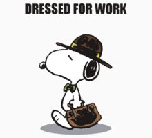 dressed for work snoopy One Piece - Short Sleeve