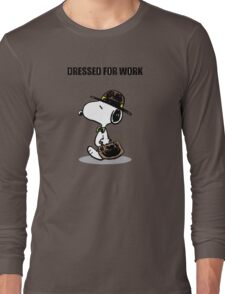 dressed for work snoopy Long Sleeve T-Shirt