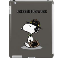dressed for work snoopy iPad Case/Skin