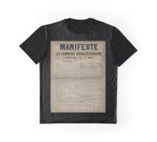 French Communist Manifesto Graphic T-Shirt