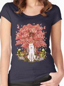 OKAMI & SAKURA Women's Fitted Scoop T-Shirt