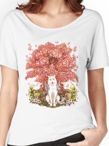 OKAMI & SAKURA Women's Relaxed Fit T-Shirt