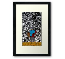 Show me if you Care. Love me if you dare. Framed Print