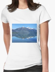 Reflection in Lake McDonald Womens Fitted T-Shirt