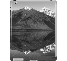 Mirror Reflection in Lake McDonald ~ Black & White iPad Case/Skin