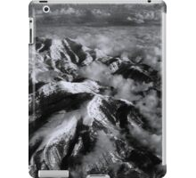 Snow Capped Mountains in Black/White iPad Case/Skin