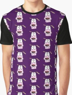 cut sketch courage dog Graphic T-Shirt