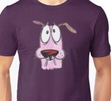 cut sketch courage dog Unisex T-Shirt