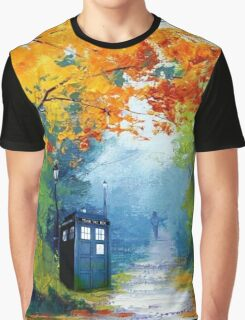 Tardis Oil Painting Graphic T-Shirt