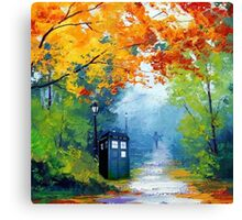 Tardis Oil Painting Canvas Print