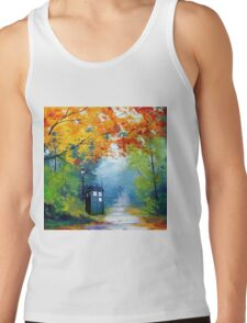 Tardis Oil Painting Tank Top