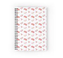 UNDIES! (white & pink) Spiral Notebook