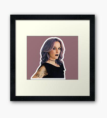 Punk Gillian Framed Print