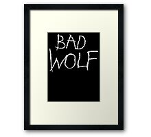 Bad Wolf Framed Print