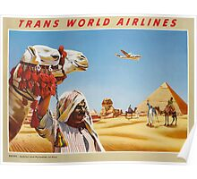 Sphinx and Pyramids of Egypt Vintage Travel Poster Poster
