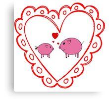 PiGgy in Love! Canvas Print