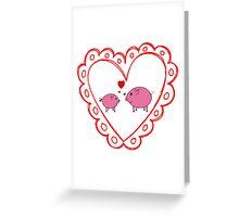 PiGgy in Love! Greeting Card