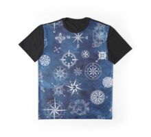 Sky navy and white compass Graphic T-Shirt