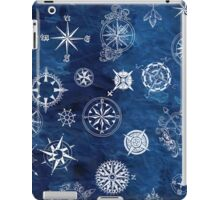 Sky navy and white compass iPad Case/Skin
