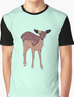 hipster fawn with sunflower crown Graphic T-Shirt
