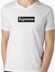 Supreme Black Mens V-Neck T-Shirt