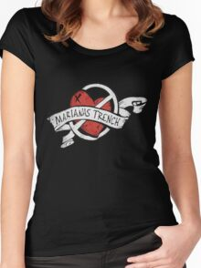 Marianas Trench Heart Logo Women's Fitted Scoop T-Shirt