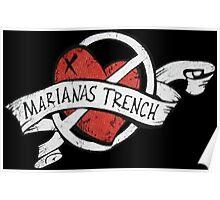Marianas Trench Heart Logo Poster