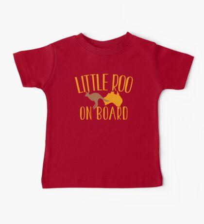 Little roo on Board (Australian pregnancy meternity design) Baby Tee