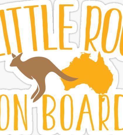 Little roo on Board (Australian pregnancy meternity design) Sticker