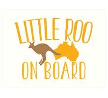Little roo on Board (Australian pregnancy meternity design) Art Print