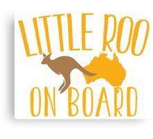 Little roo on Board (Australian pregnancy meternity design) Canvas Print