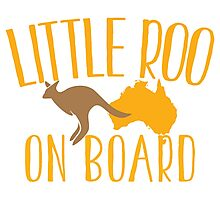 Little roo on Board (Australian pregnancy meternity design) Photographic Print
