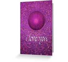 Love You pink Greeting Card