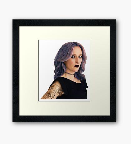 Punk Gillian (Version 2) Framed Print