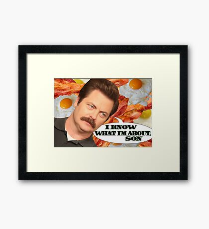 I Know What I'm About, Son Framed Print
