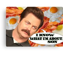I Know What I'm About, Son Canvas Print