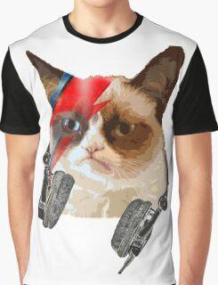 cat david bowie Graphic T-Shirt